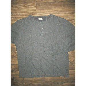 Faherty XXL Blue Shirt Henley Long Sleeve